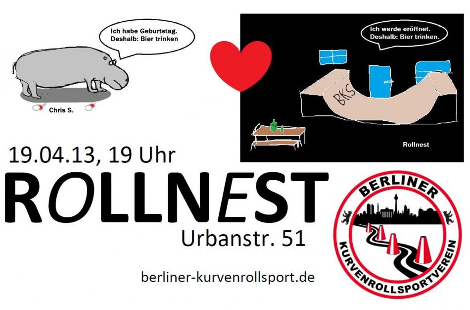 Poster Rollnesteröffnung